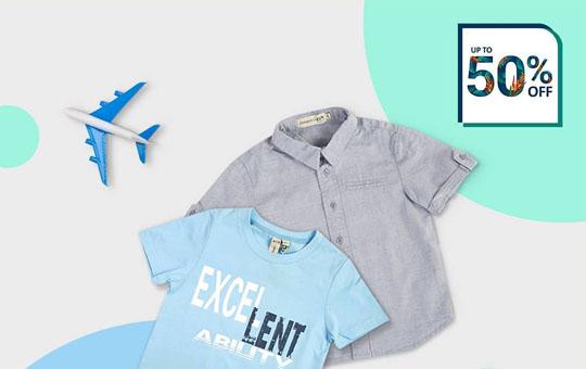فروش ویژه پیراهن و تیشرت پسرانه